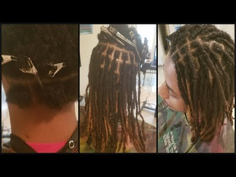 ReAttaching Locs |  Pics of The End Results *Step 3