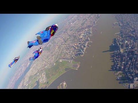 Wingsuit Flying Over New York City FULL POV