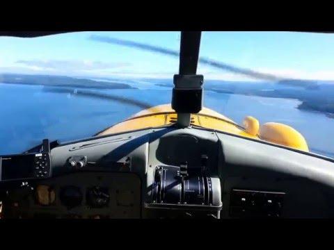 DeHavilland Beaver Seaplane Flight from Port Hardy to Rivers Inlet