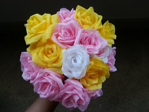 DIY: Super Easy Way To Make Roses With Crepe Paper