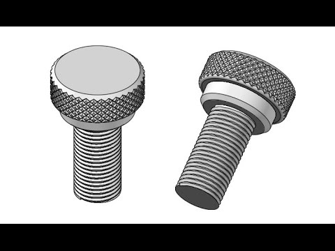 Making a Bolt with threads and diamond knurling