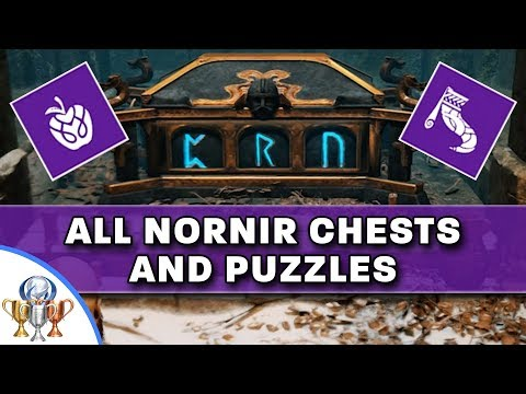 God of War - All Nornir Chests and Puzzle Solutions - Max Out Your Health (Apples) and Rage (Horns)