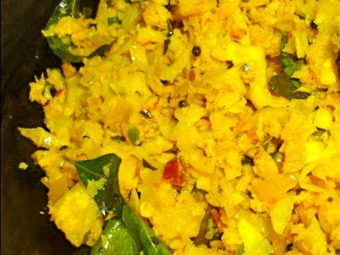 Cabbage Thoran - Stir Fried Cabbage South Indian Style