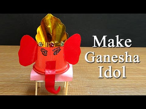 Ganesh Puja Craft Idea - Make Ganesh Idol From Paper Cup For Ganesh Puja #11