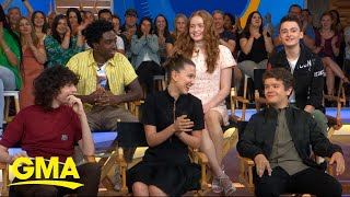 Cast of 'Stranger Things' dishes on the new season live on 'GMA'   GMA