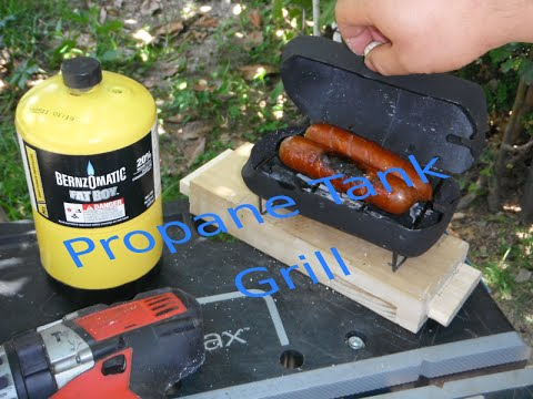 Mini Grill From Reused Propane Tank for the Jobsite or Camping