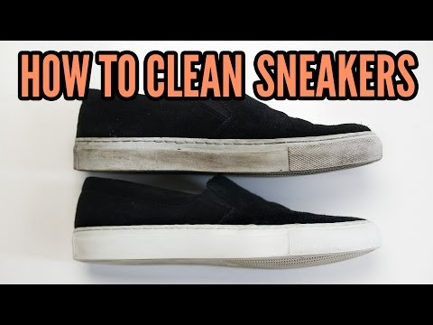 How to clean Sneakers [CLEVER CLEANING TIP!]