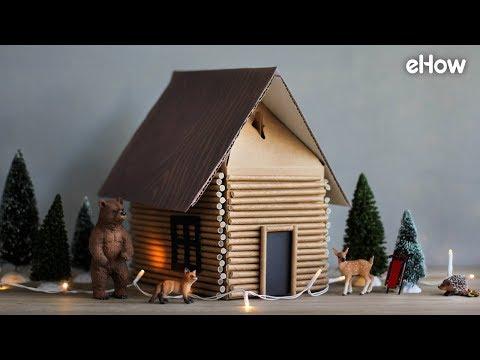 DIY Log Cabin Gift Wrap