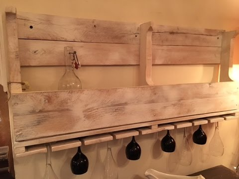 DiY Pallet wine rack and glass holder. You can do it too!