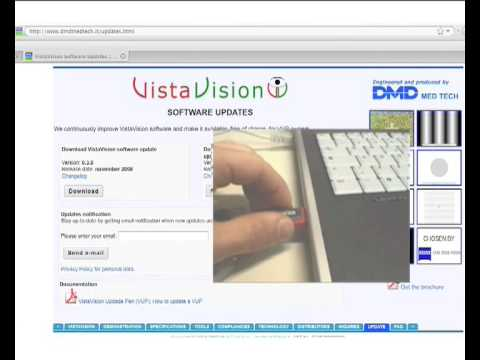 How to Upgrade the VistaVision Software with USB key
