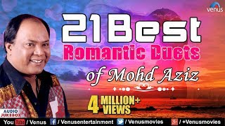 21 Best Romantic Duets | Mohd Aziz Hit Songs | Best Bollywood Romantic Songs | Best Hindi Songs