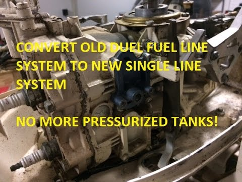 Convert 10 hp Johnson Dual Fuel Line to Modern Single Line Fuel Pump