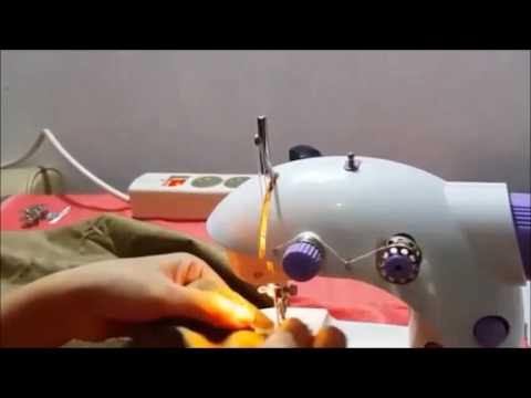 How to use mini sewing machine on how to stitch with and without food pedal