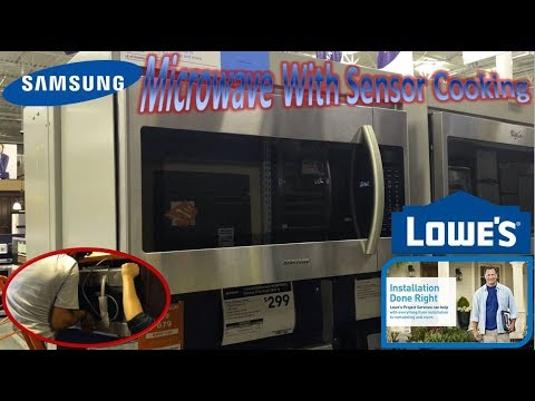 Samsung Over The Range Microwave With Sensor Cooking | Lowe's Home Installation