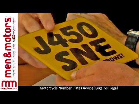 Motorcycle Number Plates Advice: Legal vs Illegal