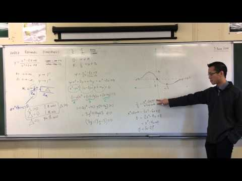 Graphing When You Can't Factorise (4 of 4: Finding Turning Points Without Calculus)