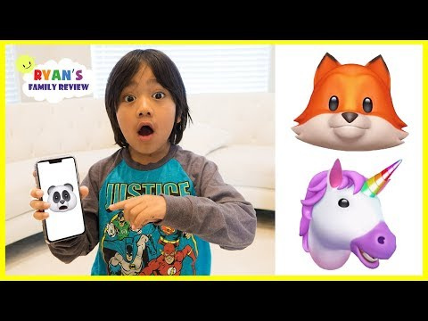 Funny Iphone X animojis with Ryan's Family Review