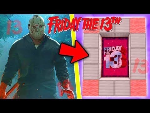 HOW TO MAKE A PORTAL TO THE FRIDAY THE 13TH DIMENSION - MINECRAFT JASON VOORHEES