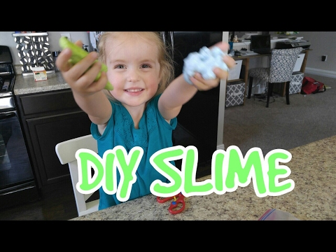 DIY Slime or Gak for preschoolers and toddlers