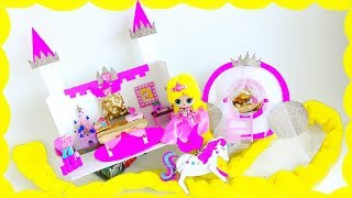 Real Princess?? Lol Doll With The Longest Hair! Turns Into  Disney Princess! Castle For Dolls
