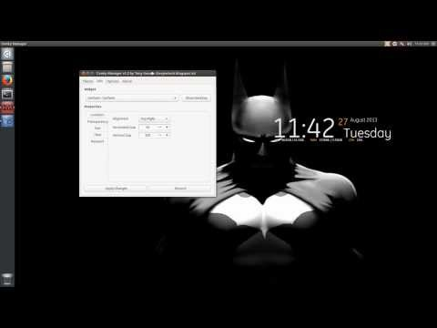 Install Conky Manager & Themes - Ubuntu