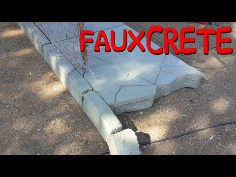 Making A Faux Concrete Sidewalk & Chain Link Fence Props