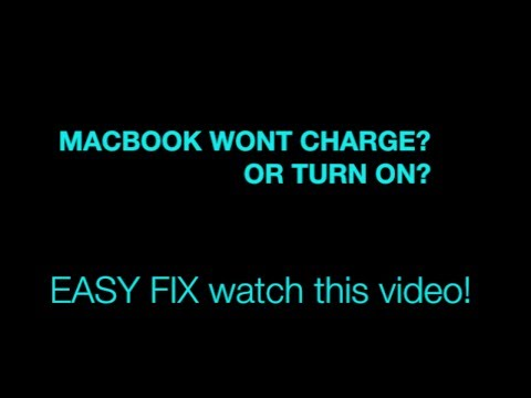 How to fix | Macbook wont turn on | No indicator or charger light | SERVICE BATTERY Warning |