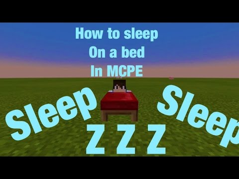 How to sleep on a bed on MCPE