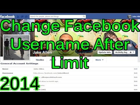 How to change Facebook Username/Link After Limit 2014 *100% WORKING*