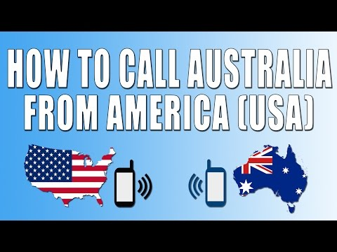 How To Call Australia From America (USA)