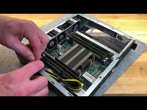 Supermicro SuperServer SYS-E300-9D DIMM install and cable rerouting for improved airflow [4K]