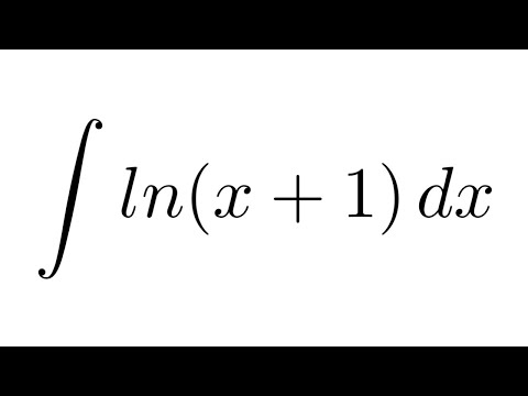 Integral of ln(x+1) (substitution + by parts)