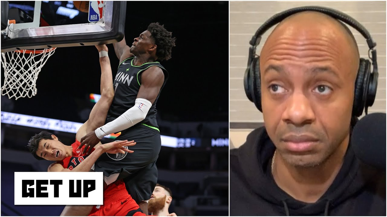 'It's the dunk of the year!' - JWill reacts to Anthony Edwards posterizing Yuta Watanabe   Get Up