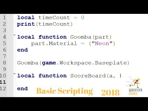 Scripting Basics: A first look tutorial at Functions, Blocks, and Variables!