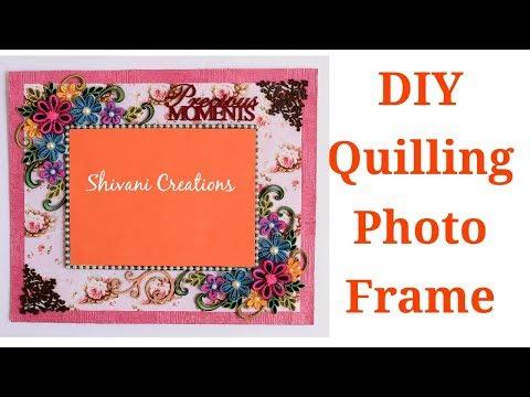 DIY Quilling Photo Frame/ Summer Craft Idea