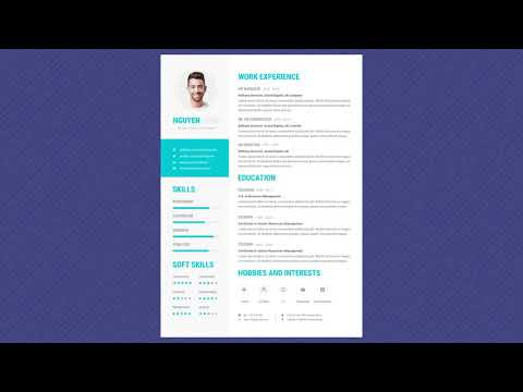 Free Professional Resume Template - Skyblue Pro