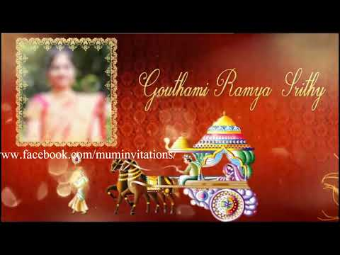 Traditional Whatsapp Wedding Invitation For South Indian Couple