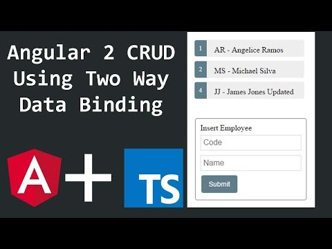 Angular 2 CRUD - Two Way Data binding