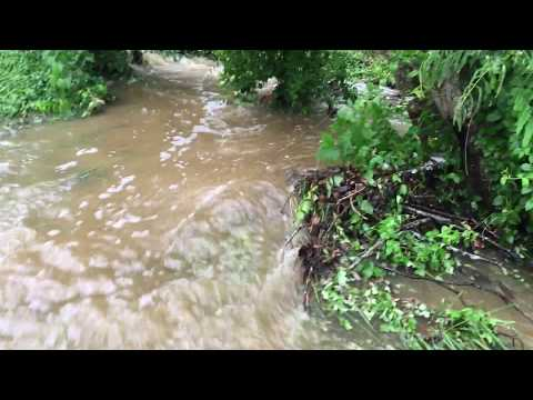 Our Pond Flooding Over In The Flash Floods In Virginia