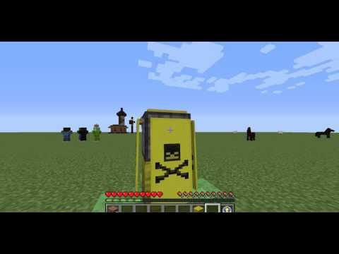 Toxic waste Barrels in minecraft