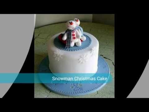 Colourful Snowman Christmas Cake
