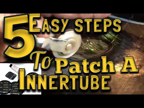 Five simple steps to patch a inner tube.