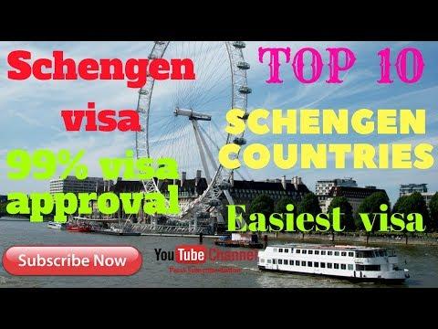 Schengen visa  TOP 10  Best countries Get  Easiest ,,,,, Schengen visas,,,,Watch  ( Urdu..Hindi )