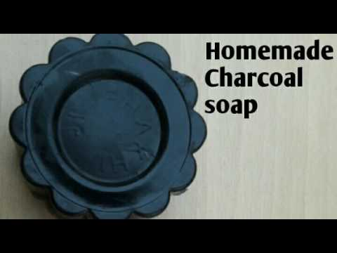 DIY Homemade activated charcoal soap for clear and glowing skin   Must watch