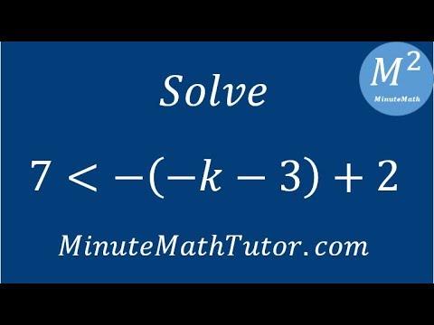 Solve 7‹-(-k-3)+2