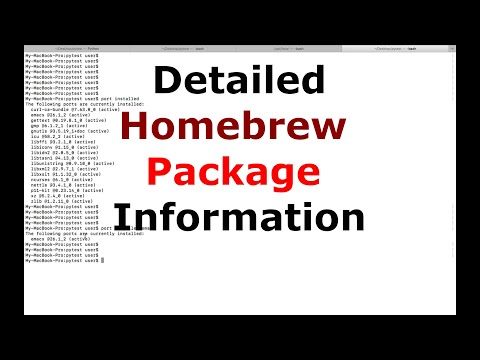 How to Get Detailed Homebrew Package Information