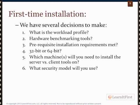 Decisions You Have To Make Before Installing SQL Server 2012