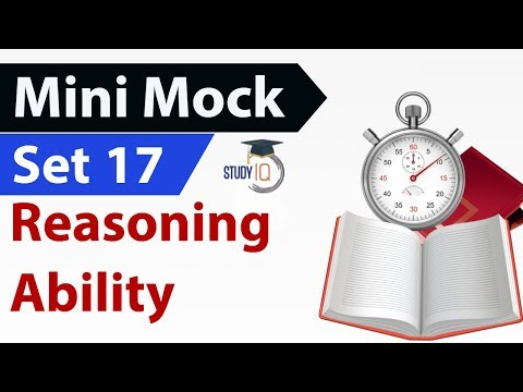Mini Mock Set-17 Reasoning Questions for IBPS / SBI / RRB / CAT / CLAT / SSC CGL – CHSL