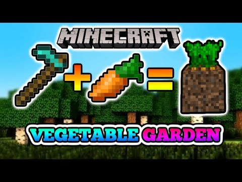 Minecraft PE: How to make a Vegetable Garden
