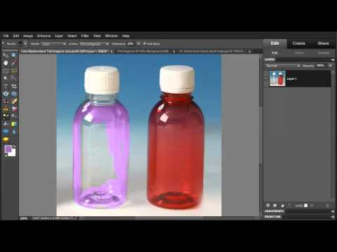 Photoshop Elements 10 - Use Color Replacement Tool to change colors
